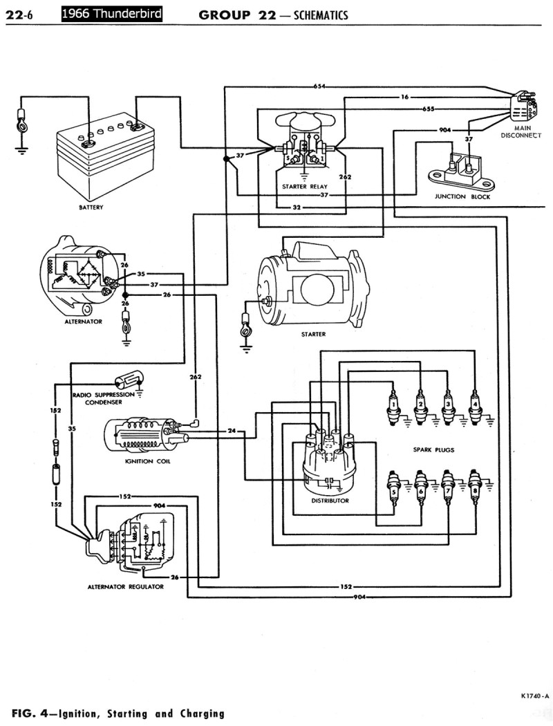 1955 t bird wiring diagram