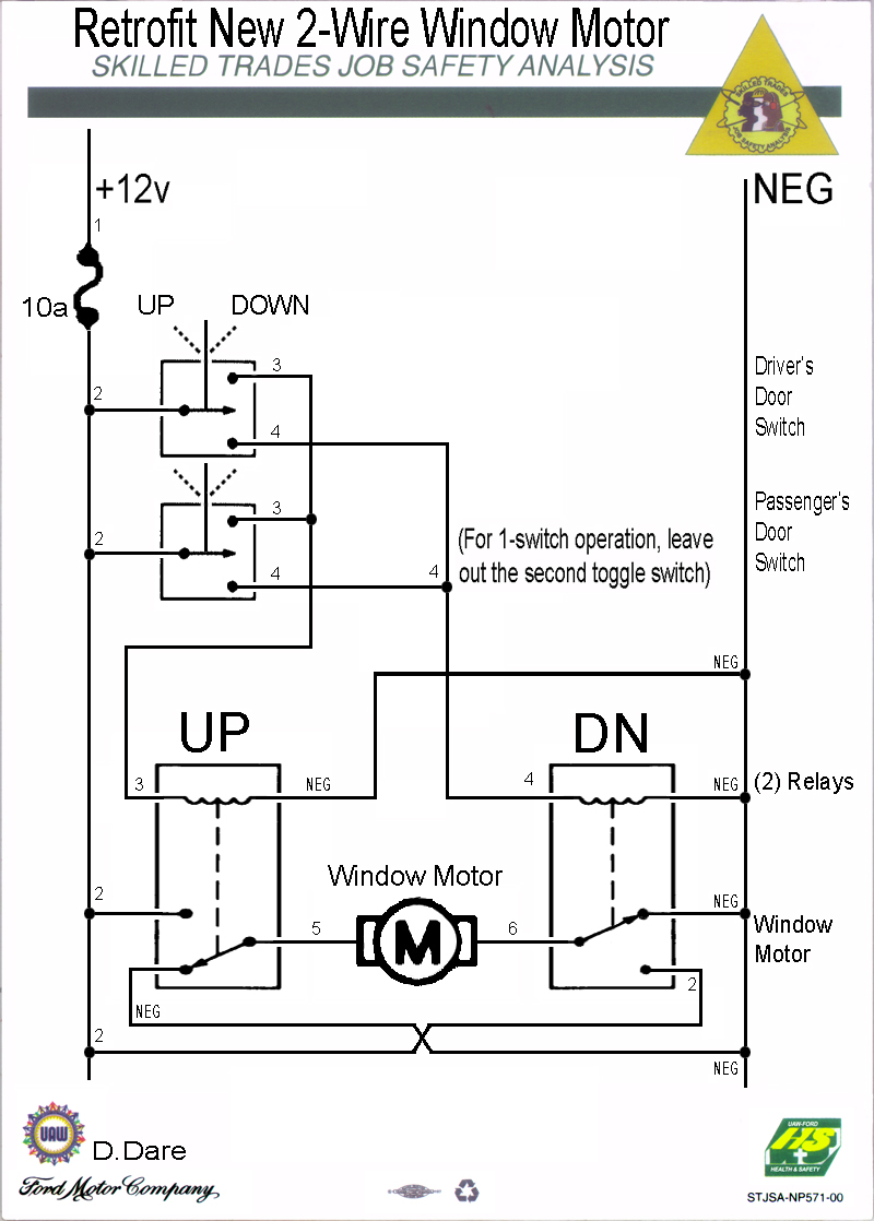 Simple Power Window Wiring Diagram : Electric power wiring get free image about